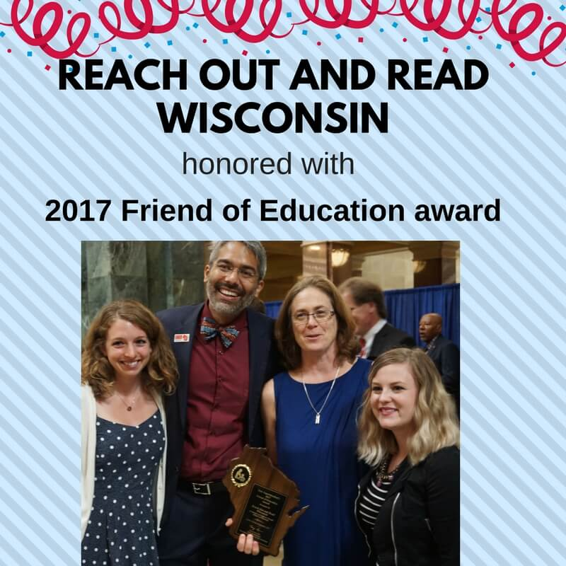 ROR Wisconsin team with Friend of Education award