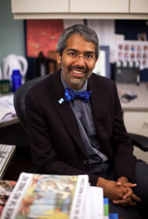 Dipesh Navsaria, MPH, MSLIS, MD is the medical director of Reach Out and Read Wisconsin