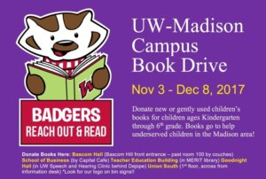 badgers reach out and read book annoucement