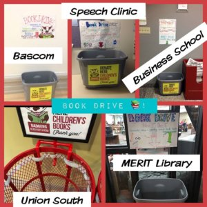 collection bins for reach out and read book drive