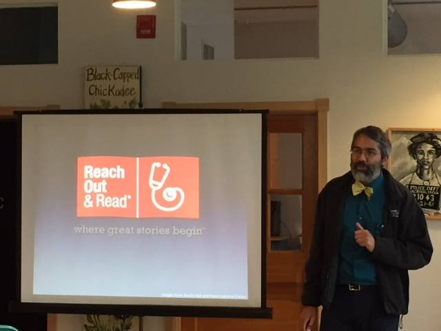Dipesh Navsaria presents at learning and fundraising event